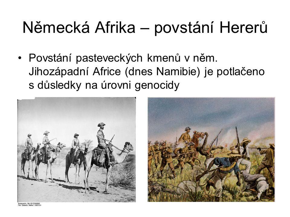Německá Afrika – povstání Hererů