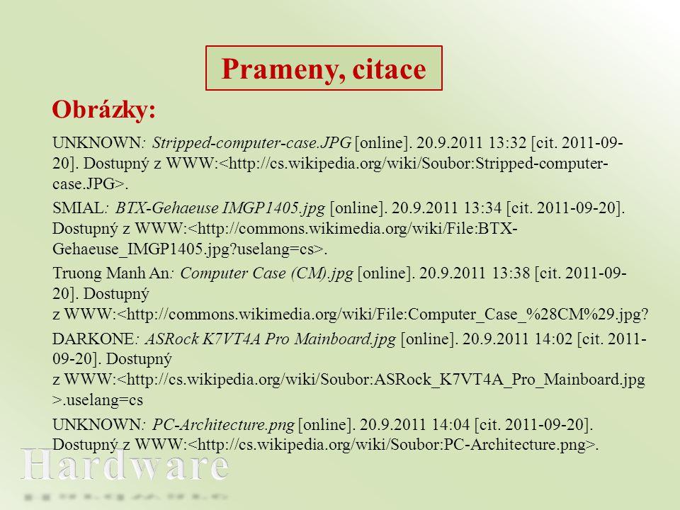Hardware Prameny, citace Obrázky: