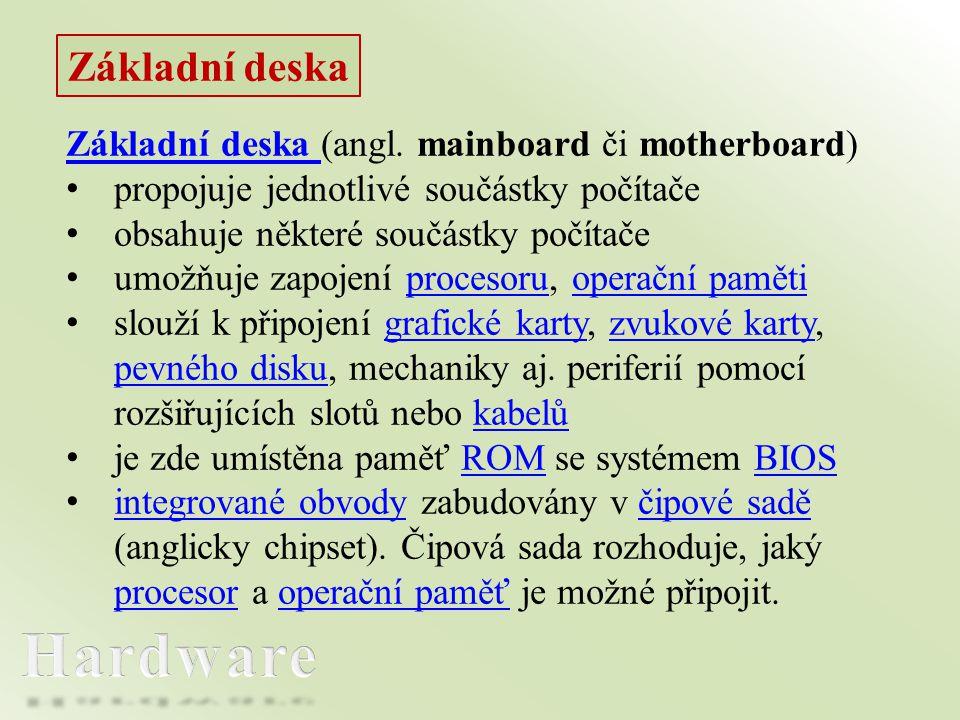 Hardware Základní deska