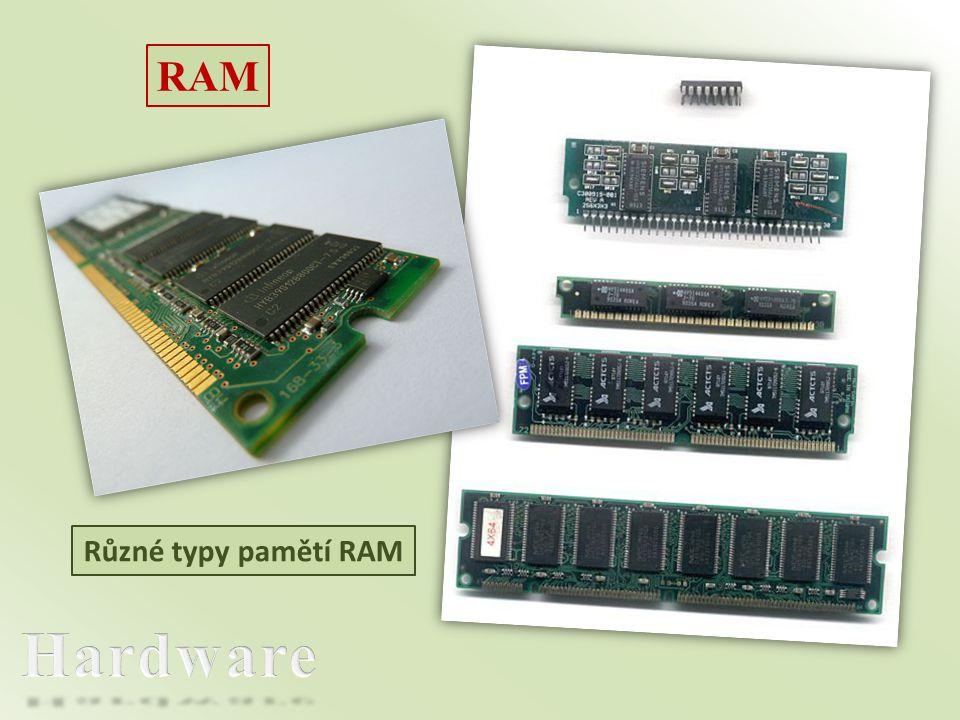 RAM Různé typy pamětí RAM Hardware