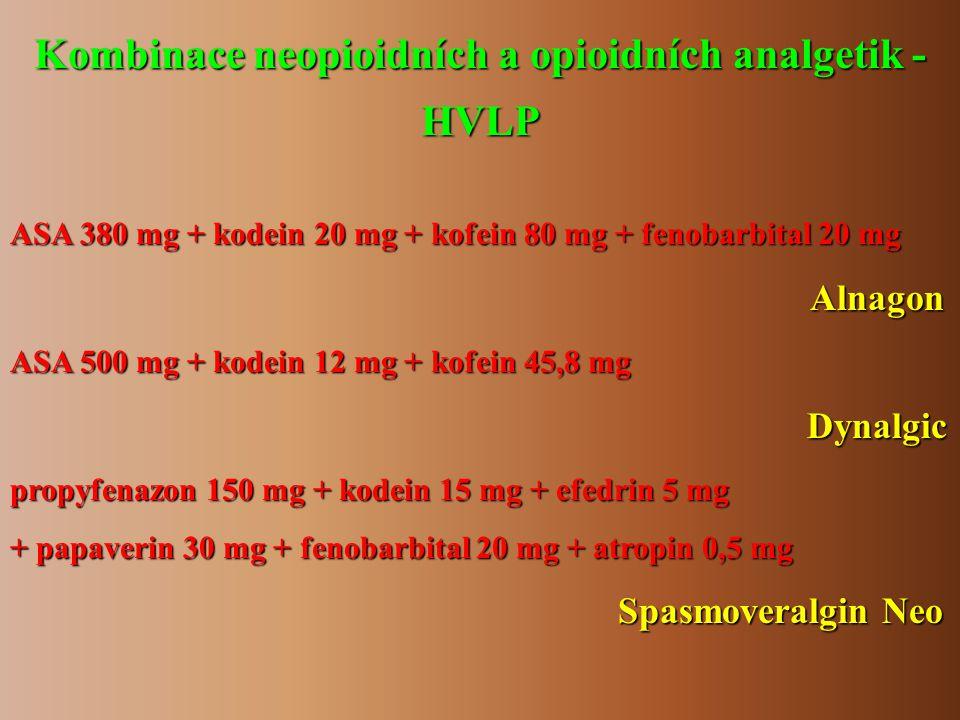 Kombinace neopioidních a opioidních analgetik -