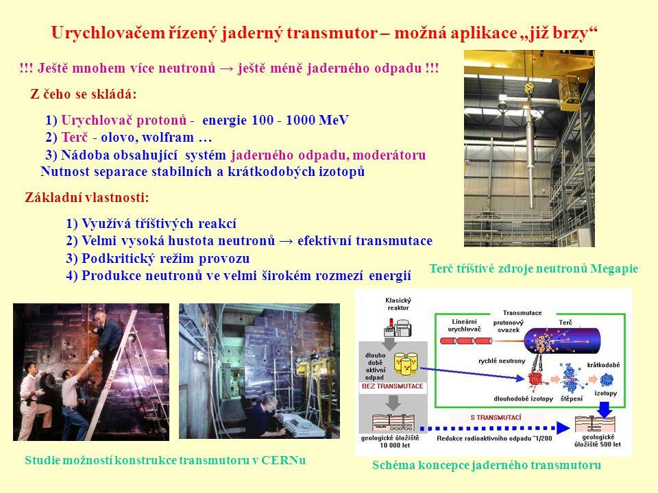 """Urychlovačem řízený jaderný transmutor – možná aplikace """"již brzy"""