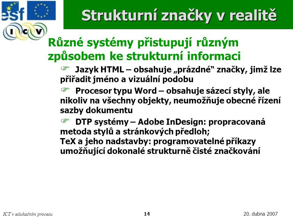 Strukturní značky v realitě