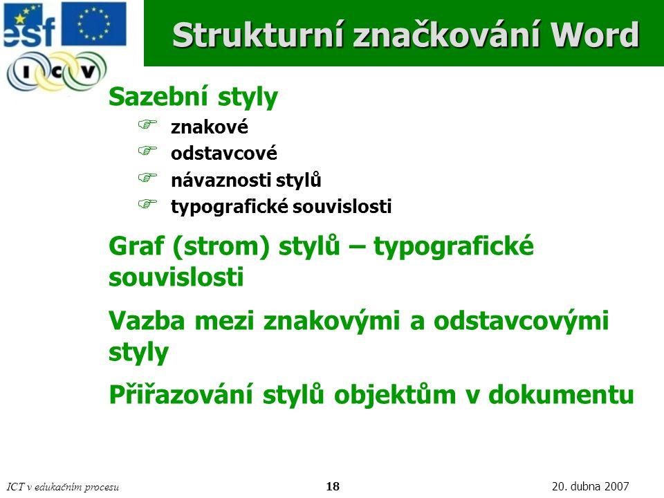 Strukturní značkování Word