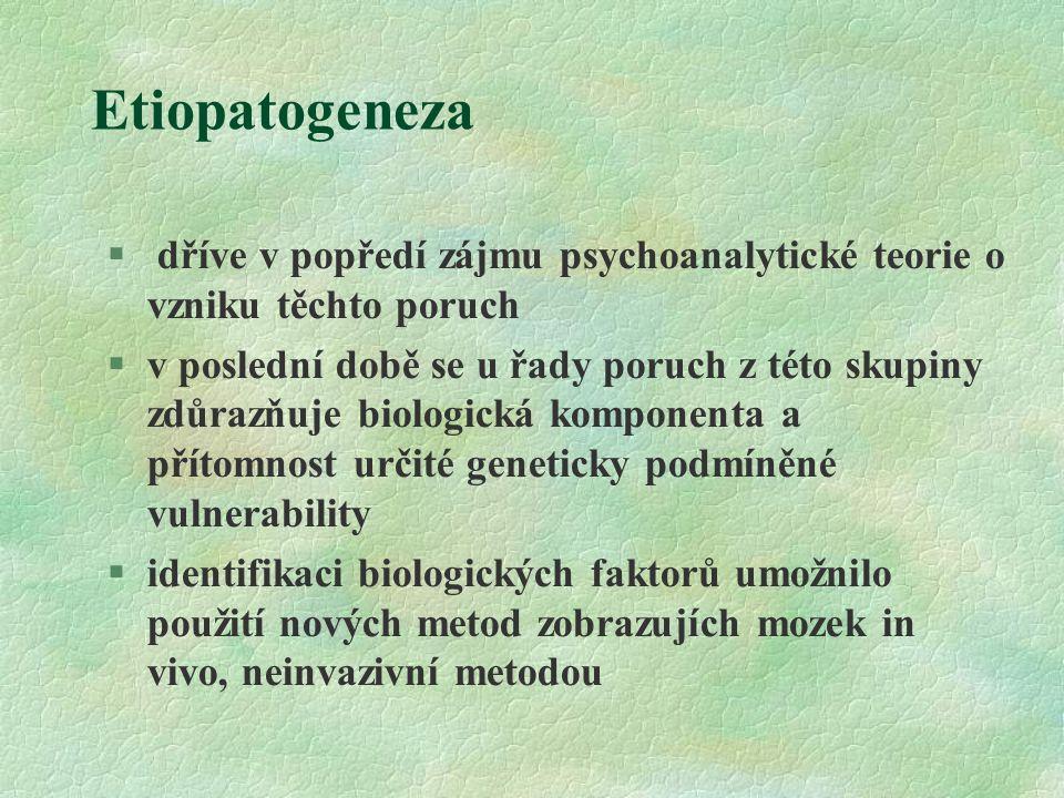 Etiopatogeneza dříve v popředí zájmu psychoanalytické teorie o vzniku těchto poruch.