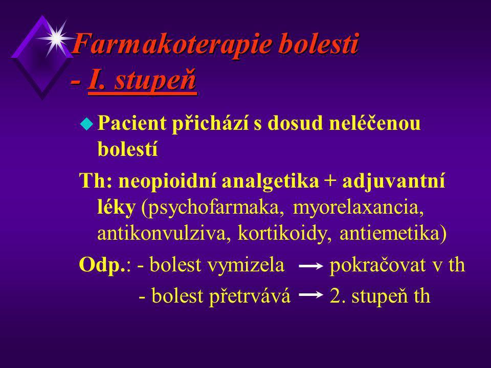 Farmakoterapie bolesti - I. stupeň