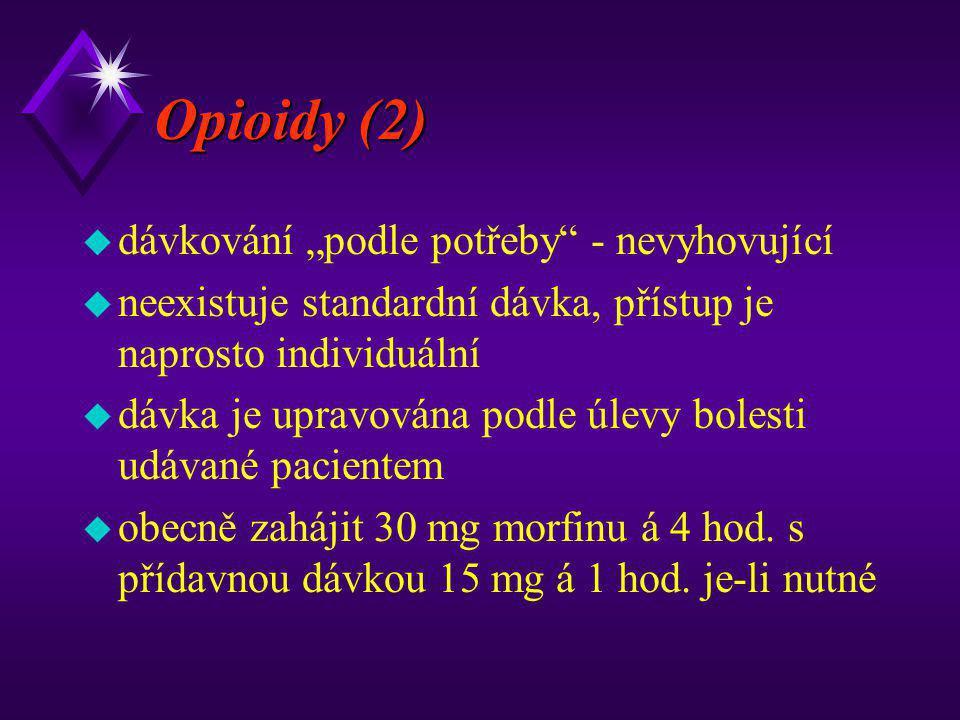 """Opioidy (2) dávkování """"podle potřeby - nevyhovující"""