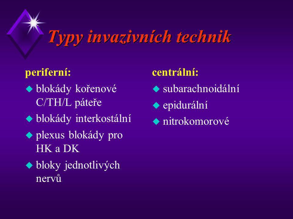 Typy invazivních technik