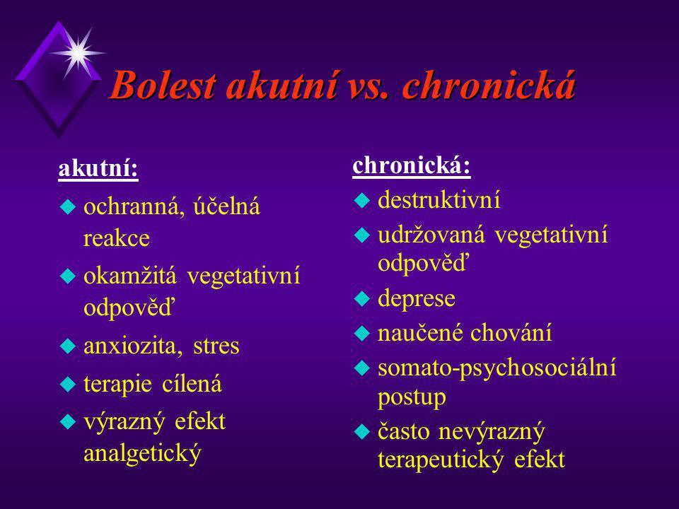Bolest akutní vs. chronická