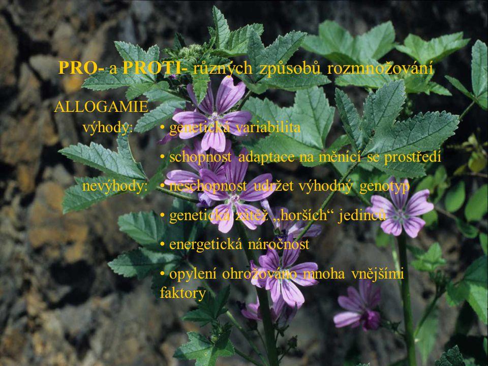 PRO- a PROTI- různých způsobů rozmnožování