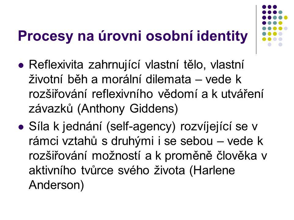 Procesy na úrovni osobní identity