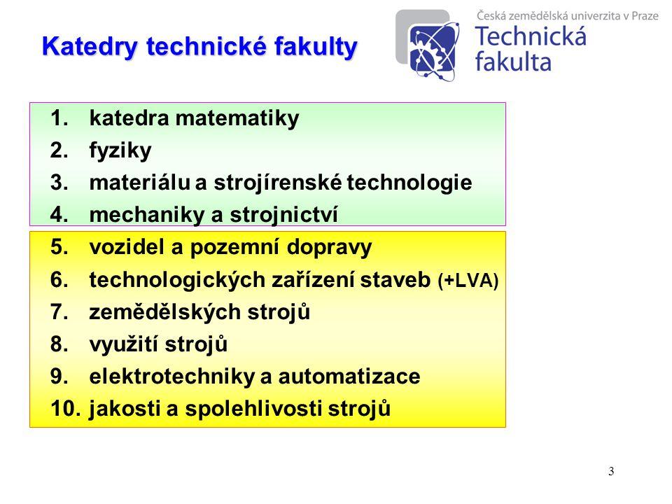 Katedry technické fakulty