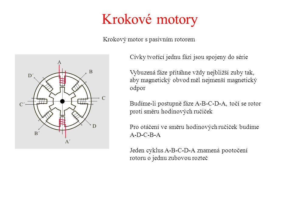 Krokový motor s pasivním rotorem