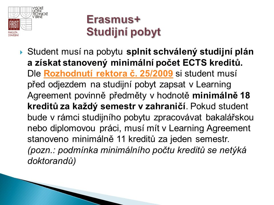 Erasmus+ Studijní pobyt