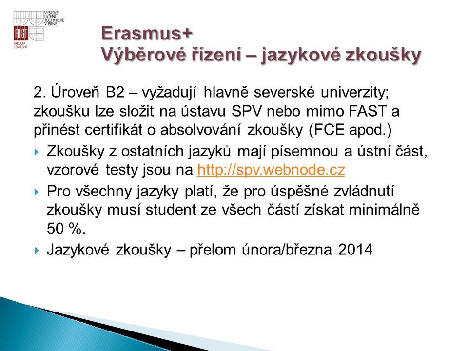 Erasmus+ Výběrové řízení – jazykové zkoušky