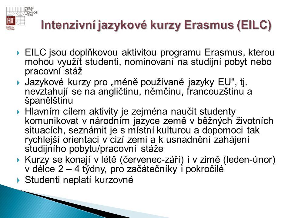Intenzivní jazykové kurzy Erasmus (EILC)