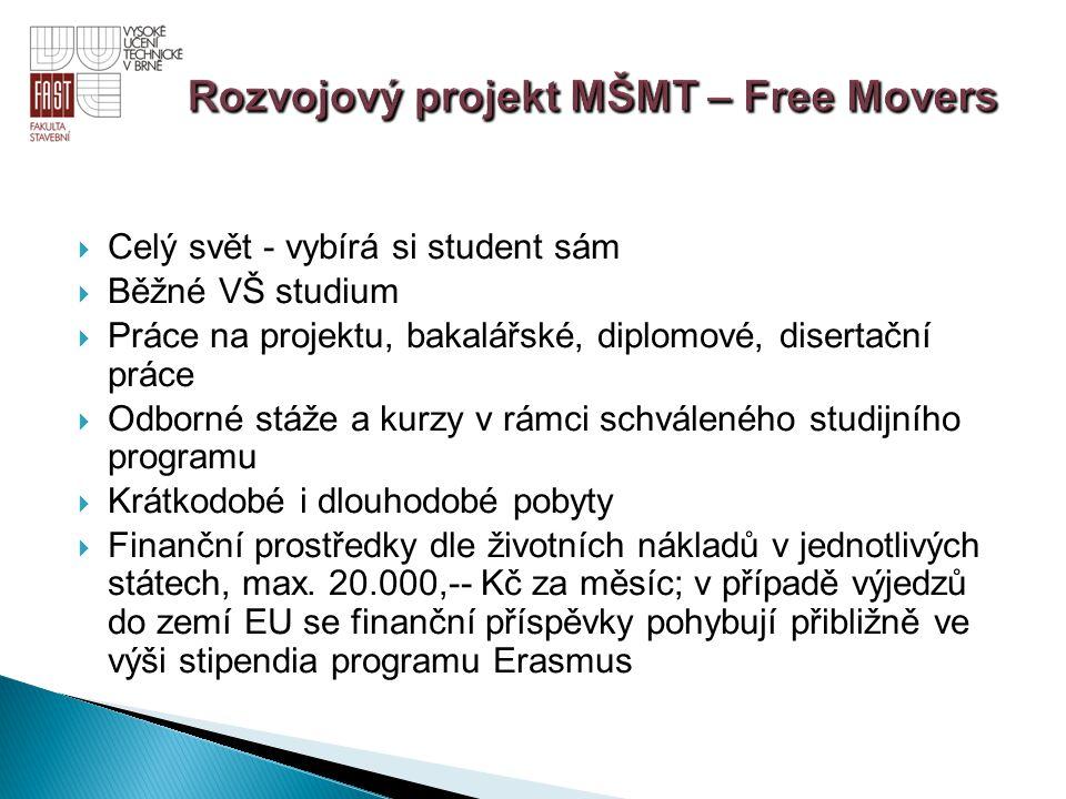 Rozvojový projekt MŠMT – Free Movers