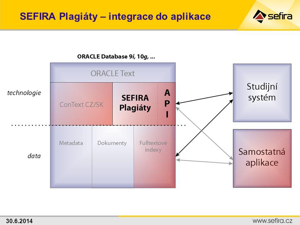 SEFIRA Plagiáty – integrace do aplikace