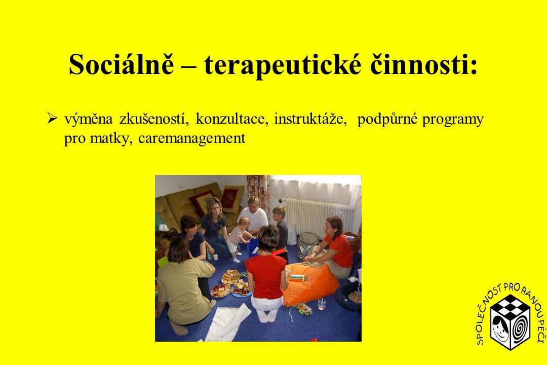 Sociálně – terapeutické činnosti: