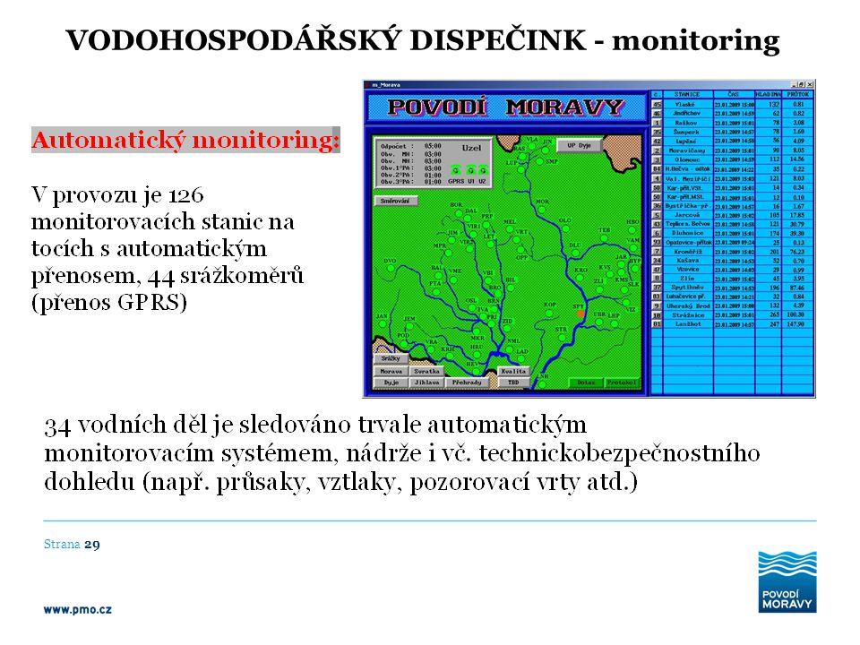 VODOHOSPODÁŘSKÝ DISPEČINK - monitoring