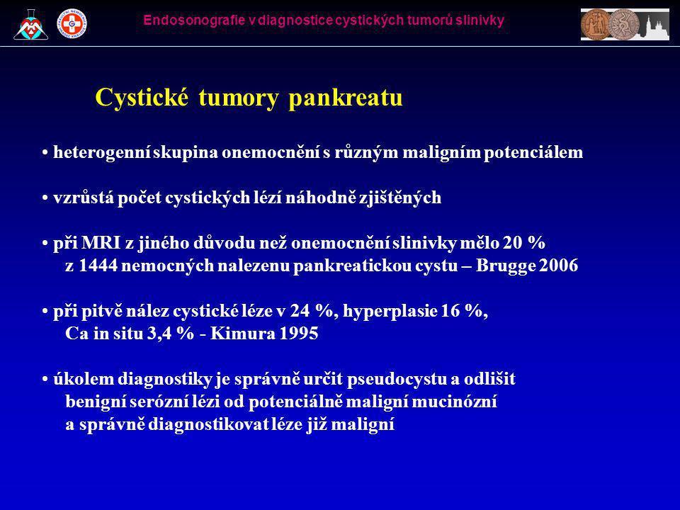Cystické tumory pankreatu