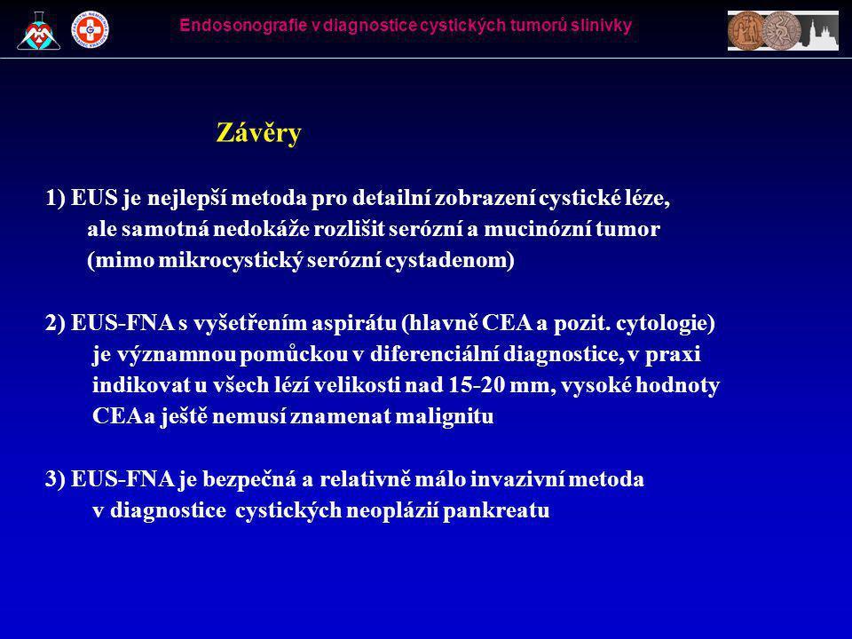 Endosonografie v diagnostice cystických tumorů slinivky