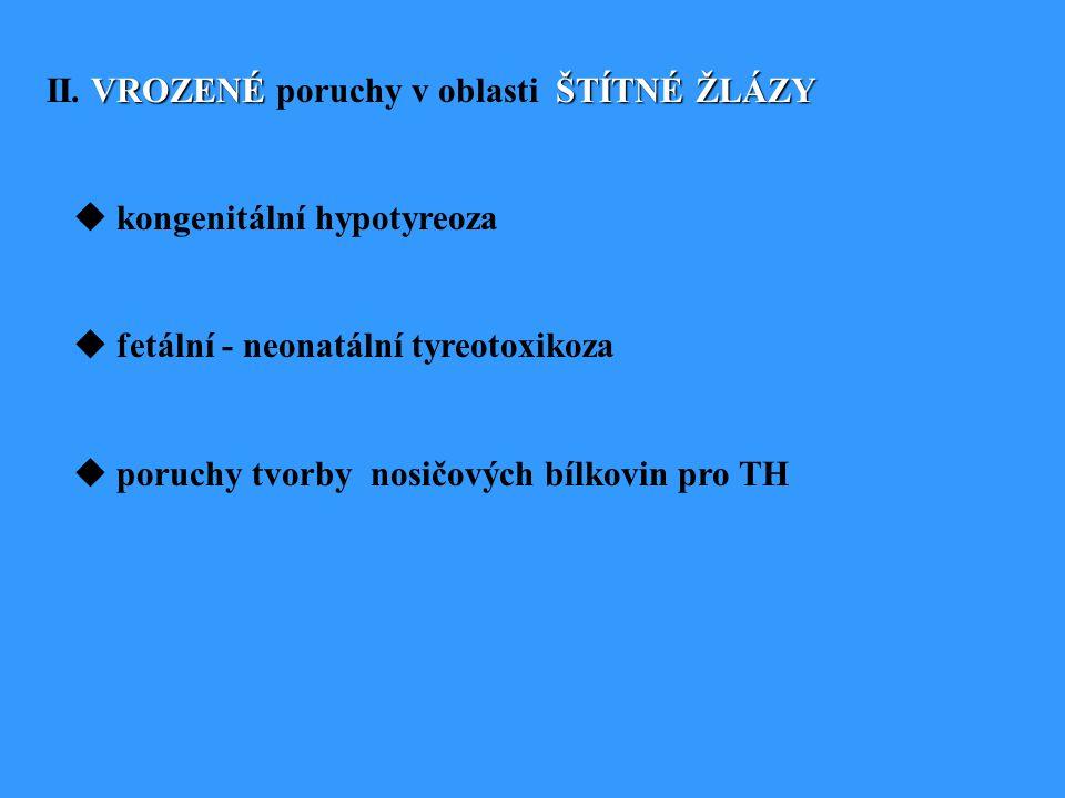 II. VROZENÉ poruchy v oblasti ŠTÍTNÉ ŽLÁZY