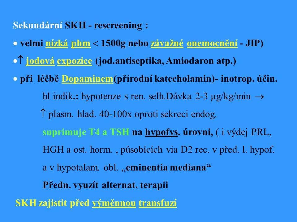 Sekundární SKH - rescreening :