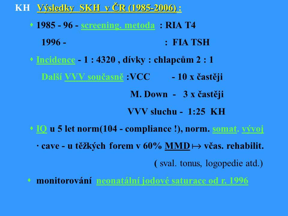 KH Výsledky SKH v ČR (1985-2006) :