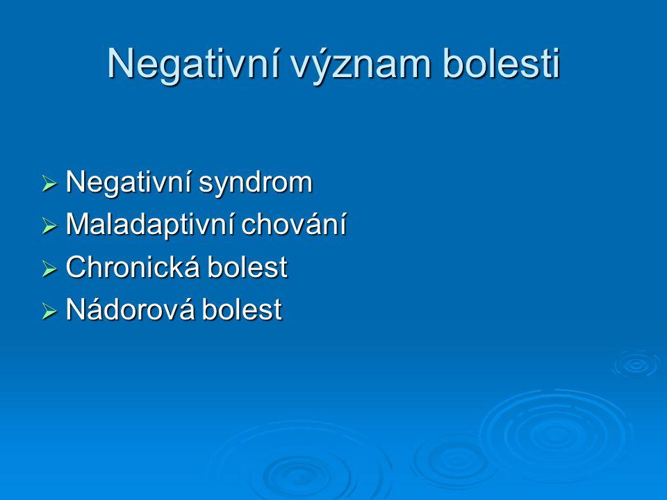 Negativní význam bolesti