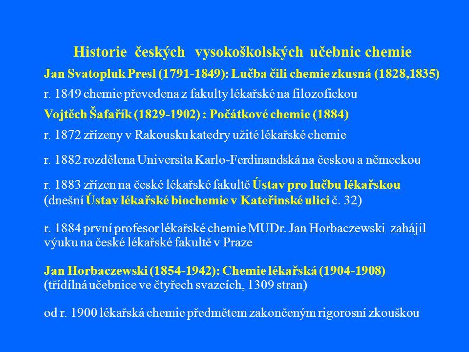 Historie českých vysokoškolských učebnic chemie