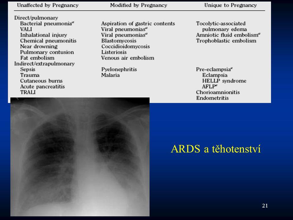 ARDS a těhotenství 2008