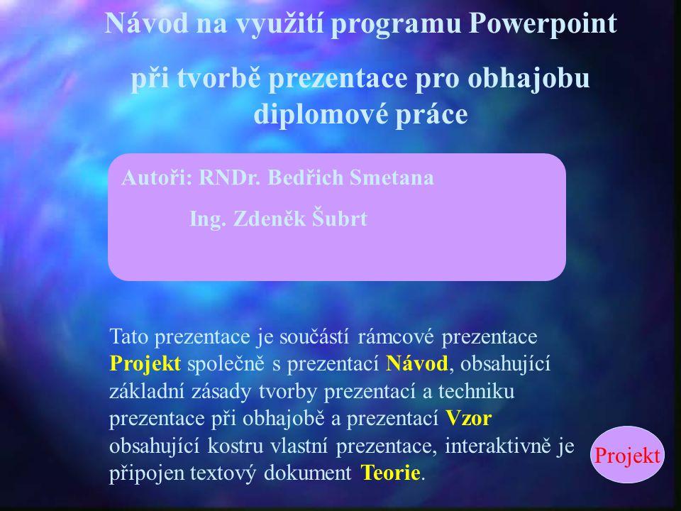 Návod na využití programu Powerpoint