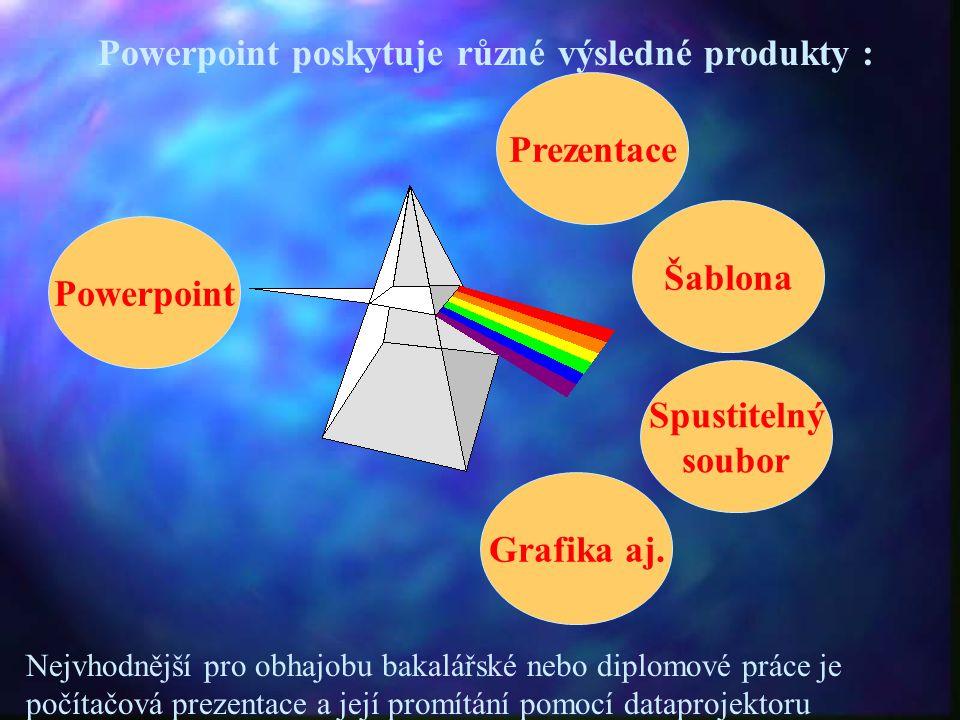 Prezentace Šablona Powerpoint Spustitelný soubor Grafika aj.