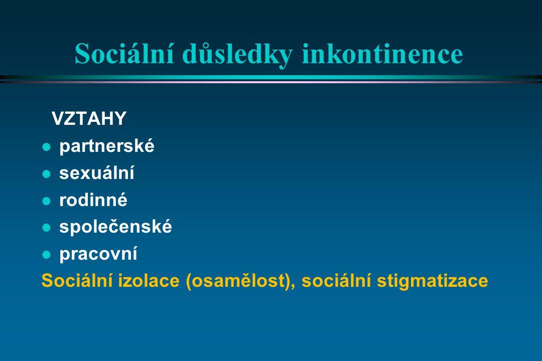 Sociální důsledky inkontinence