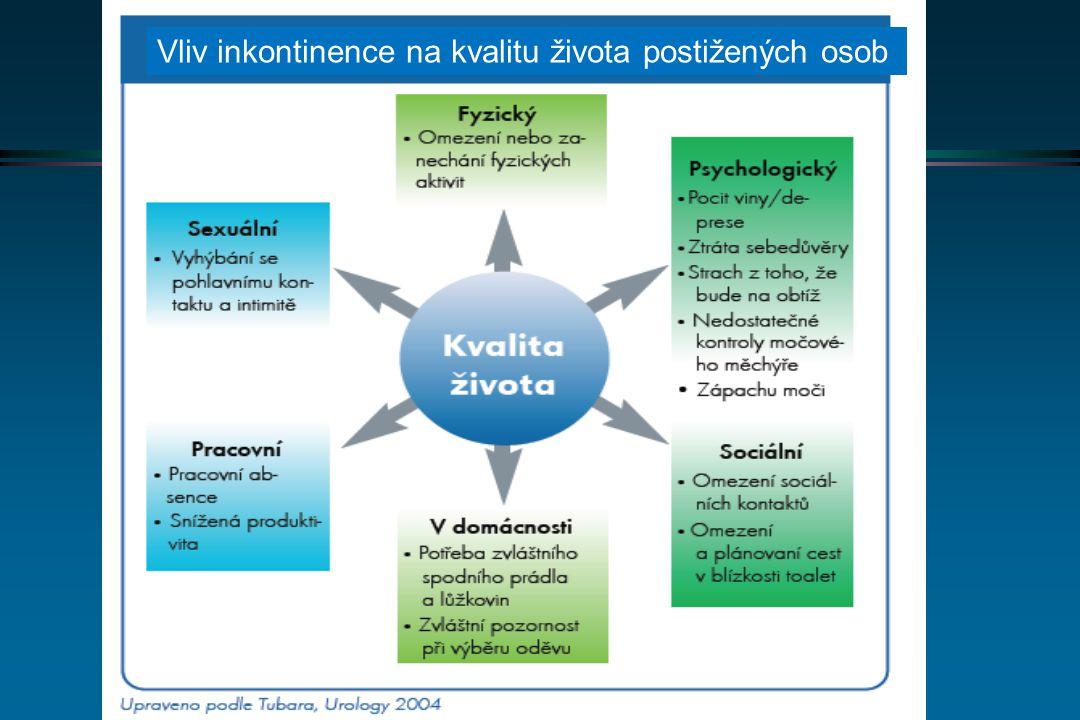 Vliv inkontinence na kvalitu života postižených osob