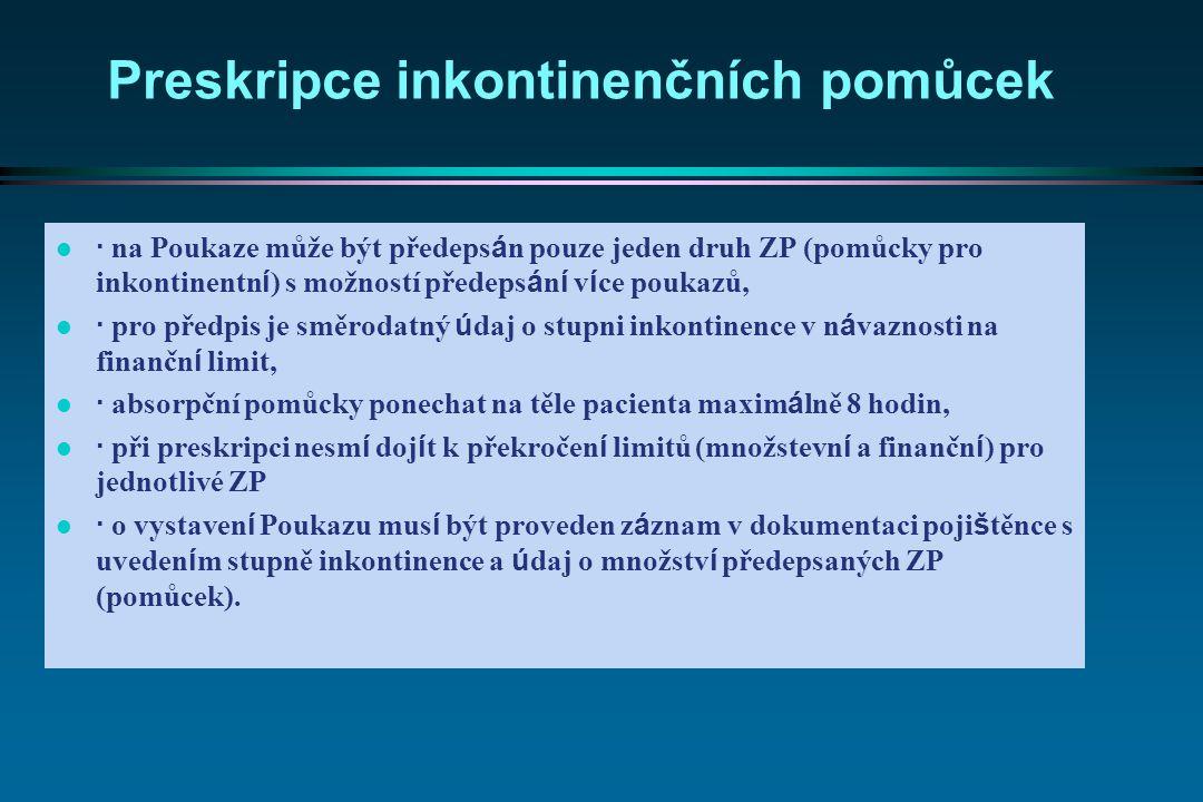 Preskripce inkontinenčních pomůcek