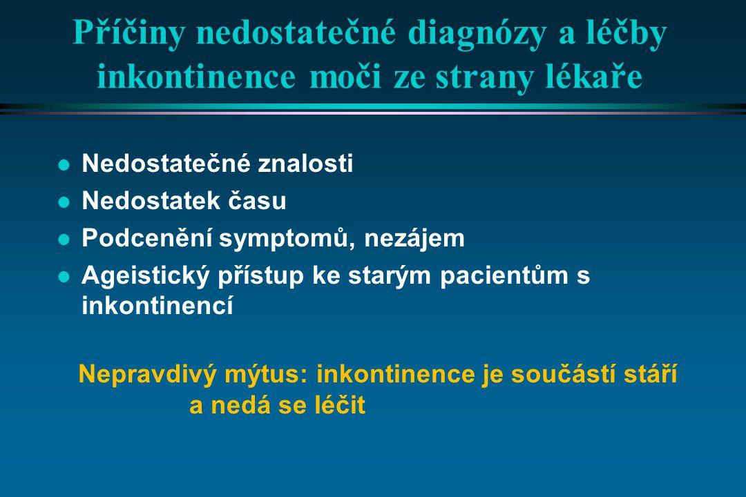 Příčiny nedostatečné diagnózy a léčby inkontinence moči ze strany lékaře
