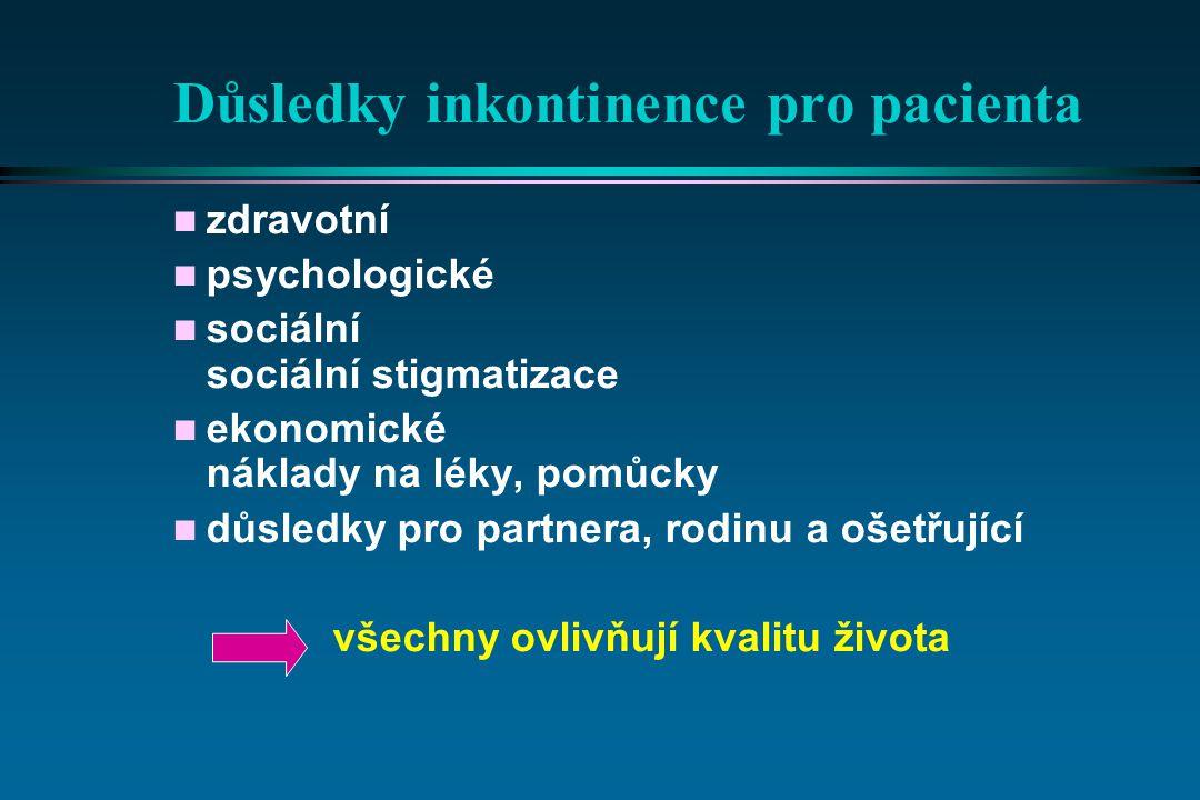 Důsledky inkontinence pro pacienta