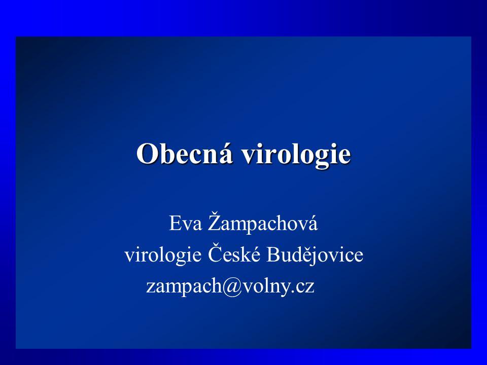 Eva Žampachová virologie České Budějovice zampach@volny.cz