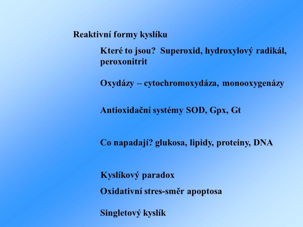 Reaktivní formy kyslíku