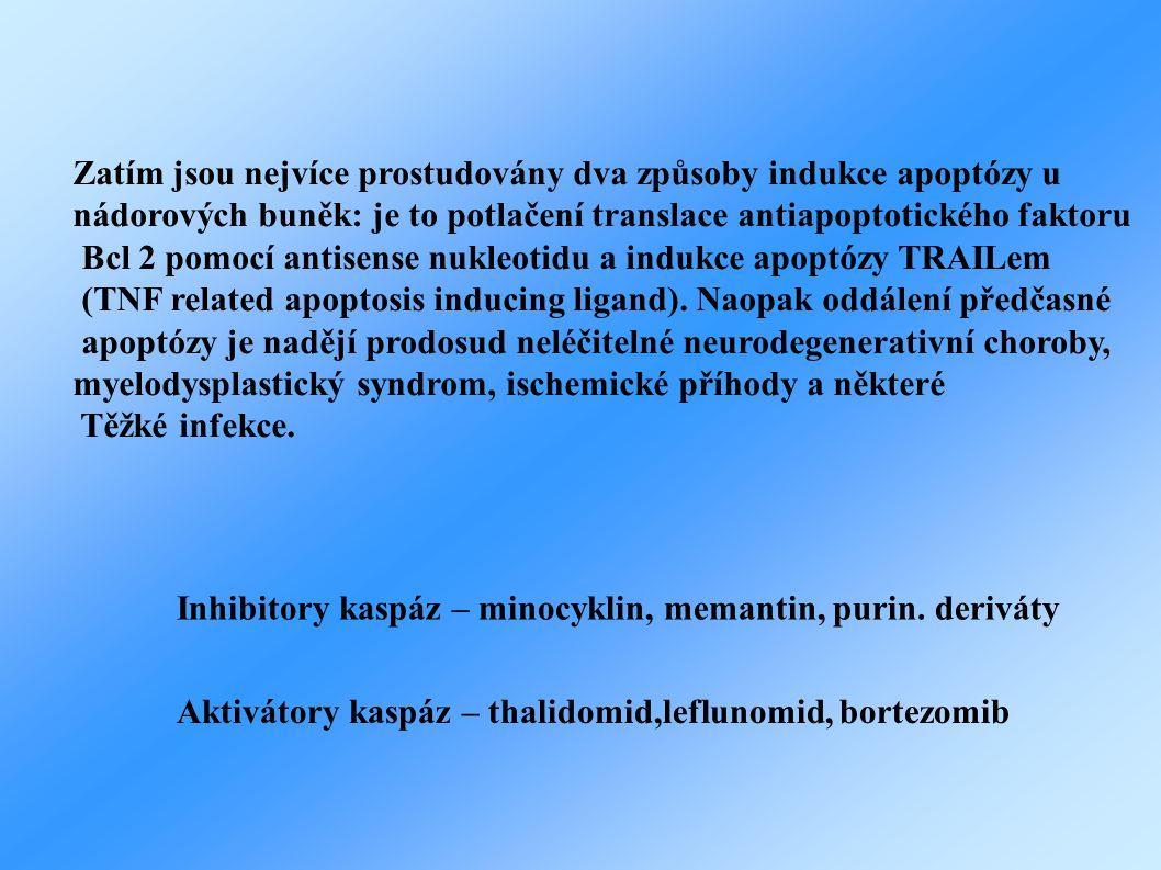 Zatím jsou nejvíce prostudovány dva způsoby indukce apoptózy u