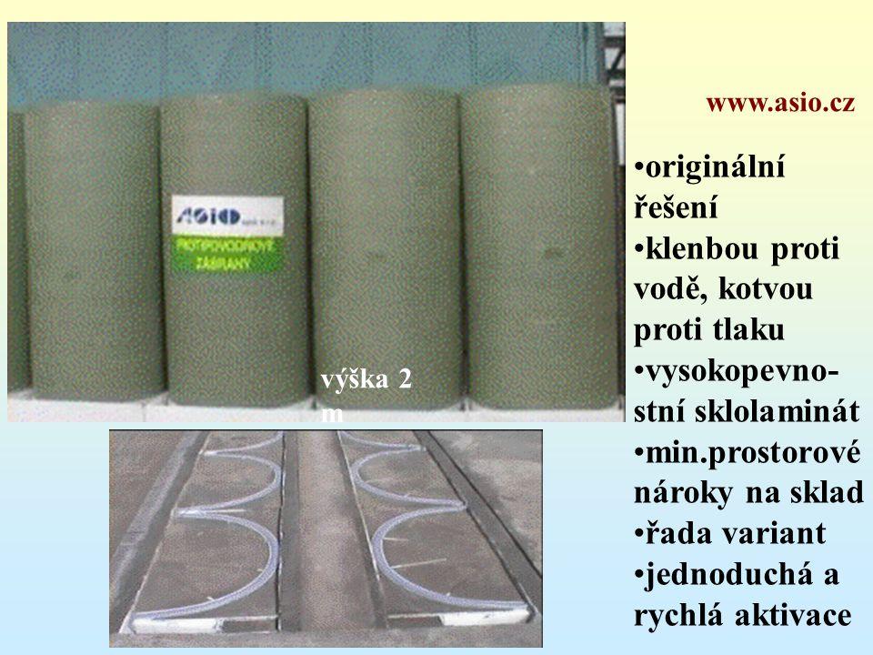 originální řešení klenbou proti vodě, kotvou proti tlaku vysokopevno-