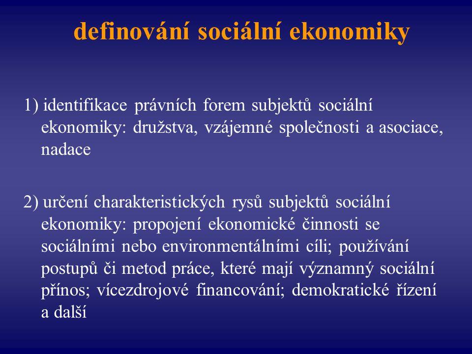 definování sociální ekonomiky