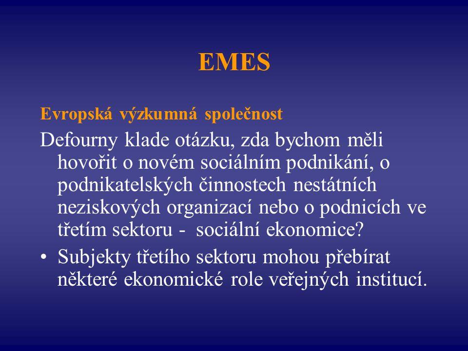 EMES Evropská výzkumná společnost.