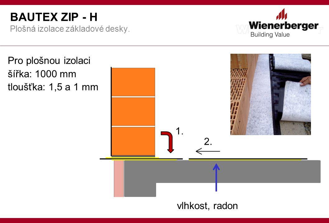 BAUTEX ZIP - H Pro plošnou izolaci šířka: 1000 mm tloušťka: 1,5 a 1 mm