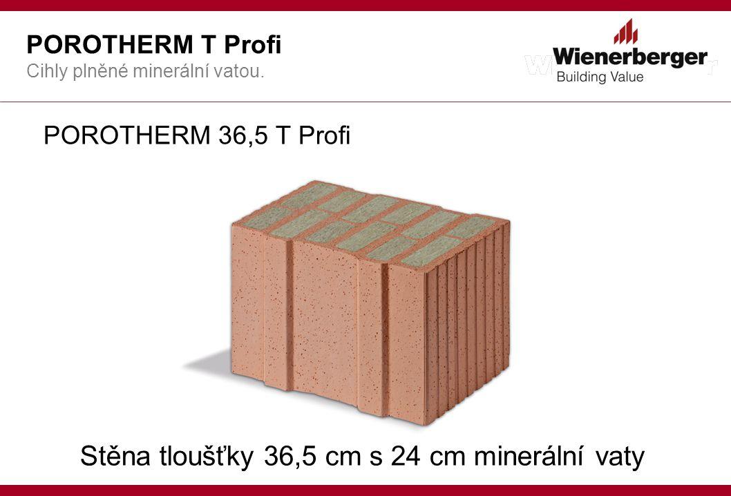 Stěna tloušťky 36,5 cm s 24 cm minerální vaty