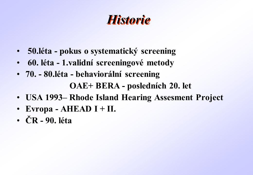 OAE+ BERA - posledních 20. let