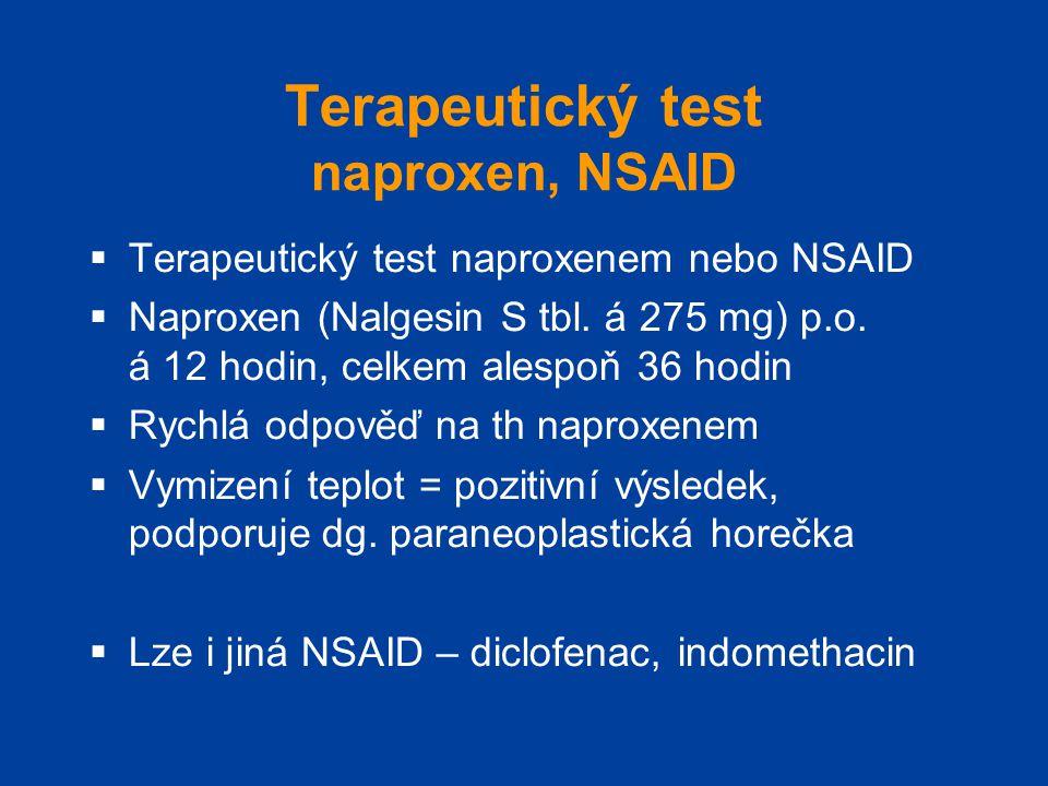 Terapeutický test naproxen, NSAID