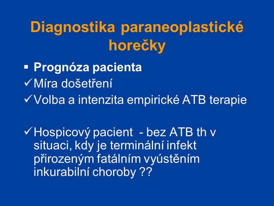 Diagnostika paraneoplastické horečky